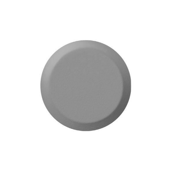 BP10114 grått fare element i 35 mm diameter på 3,3 -5 mm høyde med pinne