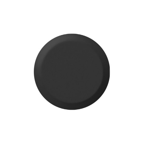 BP1011403 sandblåst taktilt fare element i svart på 25 mm for pinne og lim