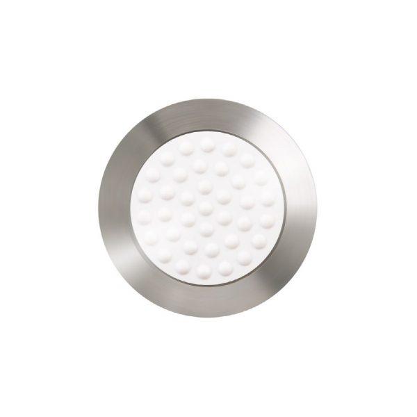 BP1011412 stål fare element i 35 mm diameter med hvit Desmopan ilegg og pinne
