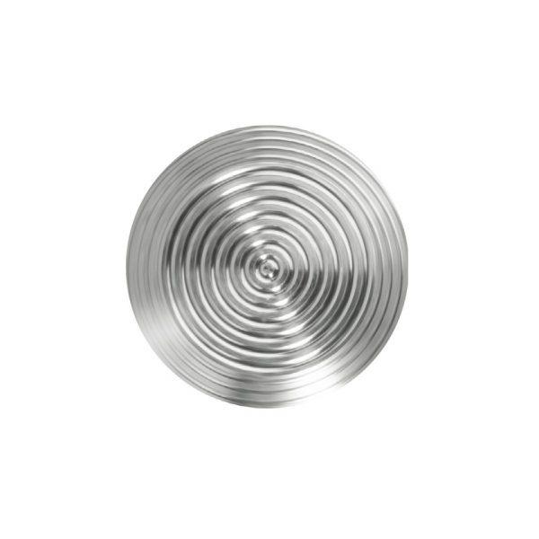 Fare element i stål med sirkulært mønster på 25 mm diameter for lim og tapelim type BP1011425