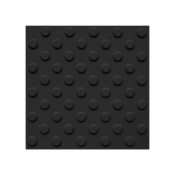 Taktil fareflis i svart Desmopan på 30 x 30 cm type BP1011573