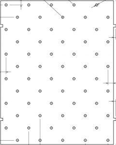 UU19183 stål mal til fare knotter for pigging til underlaget