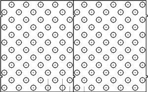 Mal i plast til fareknotter for tape eller lim (kan leveres i 25 , 30 og 35 mm diameter
