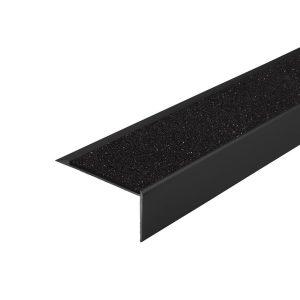 Trappenese i eloksert svart med svart Surestep Coacoalle ilegg